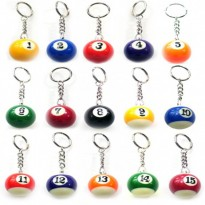 Catalogo di prodotti - Box of 15 key rings with balls 1-15
