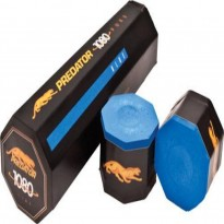 Predator Urbain 2x4 Blue Hard Cue Case - Predator 1080 Pure Chalk. 5 pcs box