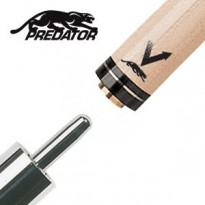 Pechauer Black Ice Uni-Loc Break Shaft - Predator Vantage Shaft for Uni-Loc Joint with Silver Ring