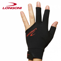 Longoni Luna Nera graphite carom shaft - Longon Glove Black Fire 2.0 left hand