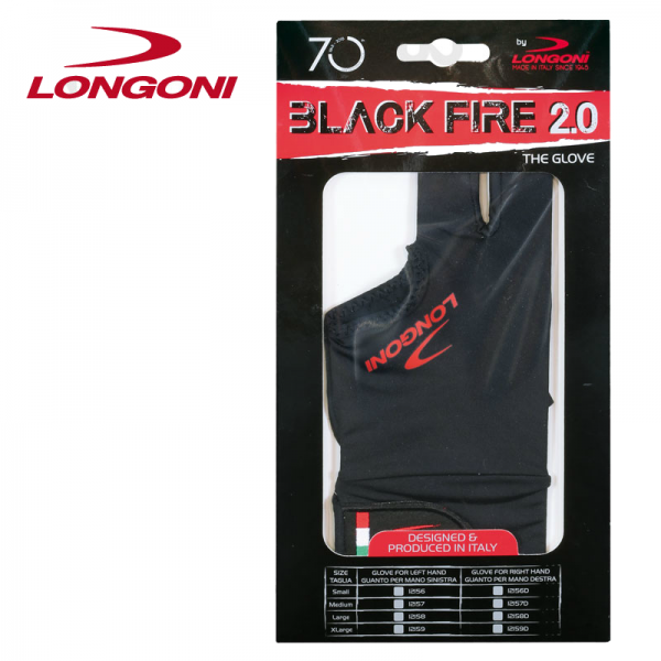 Longoni Glove Black Fire 2.0 for Right Hand