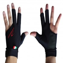 Cue accessories / Gloves - Longoni Black Fire Glove for Right Hand