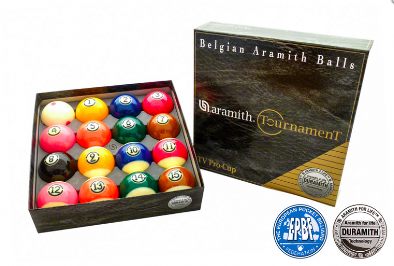 Ball Set Pool Aramith Tournament Pro Cup, 57,2 mm