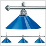 2-Shade Red Billiard lamp with golden axis - 3 shades brass lamp blue