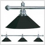 Gorina Snooker Wentworth 193 - 3 shades brass lamp black