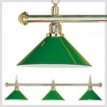 2-Shade Silver Billiard lamp - 3 shades brass lamp green