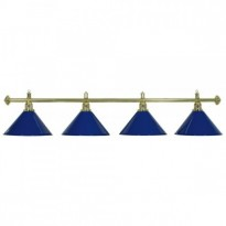 Catalogo di prodotti - 4-Shade Blue Billiard lamp with golden axis