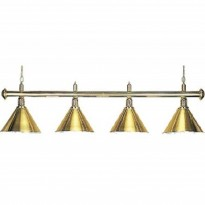 Catalogo di prodotti - Billiard Lamp with 4 green golden shades