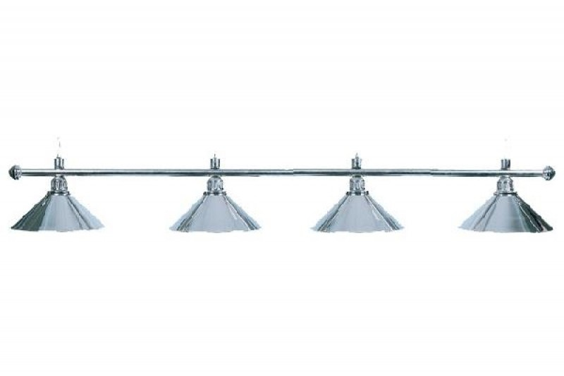 Billiard Lamp with 4 Silver shades