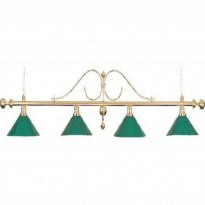 Catalogo di prodotti - Classic Billiard Lamp with 4 green shades