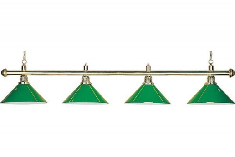 Billiard Lamp with 4 green shades