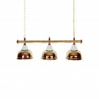 Products catalogue - Billiard Lamp with 3 golden shades