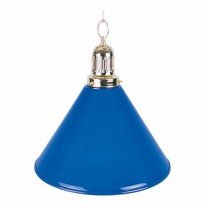 2-Shade Red Billiard lamp with golden axis - 1-Shade Blue Billiard Lamp