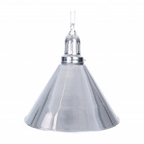 2-Shade Silver Billiard lamp - 1-Shade Silver Billiard Lamp