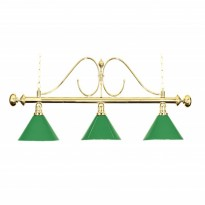 Green Shade for Billiard Lamps - 3-Shade Billiard lamp Green Classic