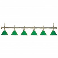 Products catalogue - 6-Shade Green Billiard Lamp