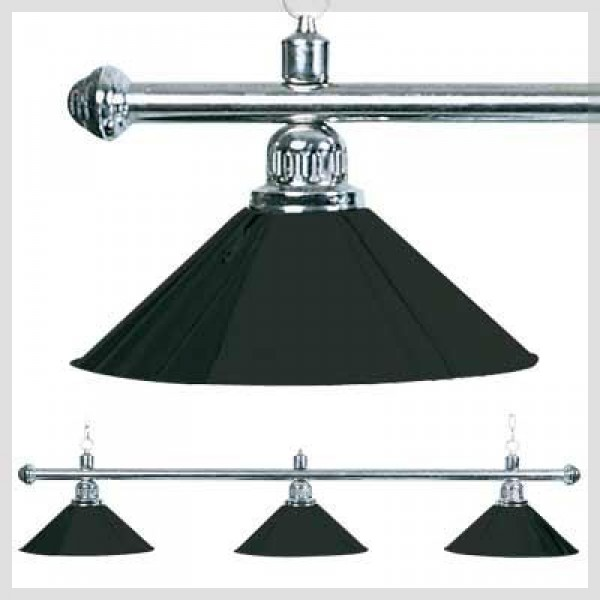 3 shades brass lamp black