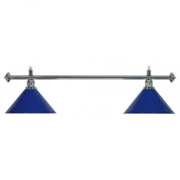 2-Shade Blue Billiard lamp with silver axis