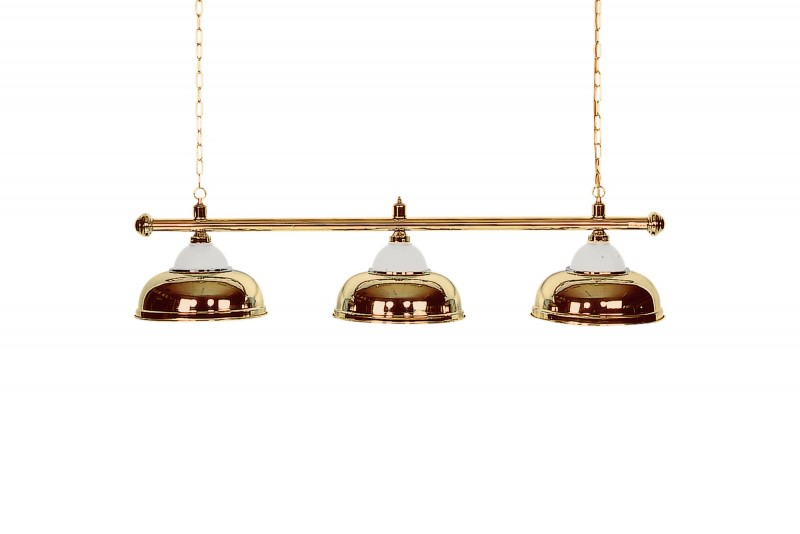 Billiard Lamp with 3 golden shades