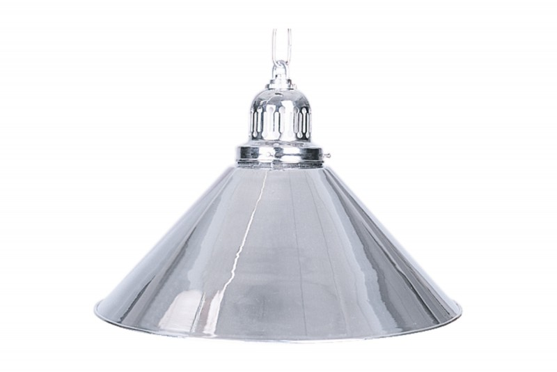 1-Shade Silver Billiard Lamp