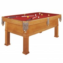Pool Table Brunswick Goldcrown IV 9 FT Pocket - Dynamic Bern 9 ft dark oak pool table