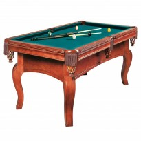 Billiard Pool Table Dynamic Vancouver 7 Ft  Brown - Dynamic Dynasty 8 ft brown billiard pool table