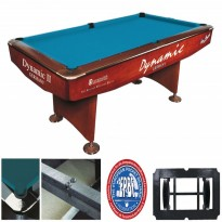 Dynamic Billiard table Hurricane 9FT White - Dynamic II 9 ft brown pool table