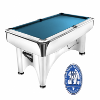 Products catalogue - Dynamic III 8 ft white pool table