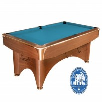 Dynamic Dynasty 8 ft oak billiard pool table - Dynamic III 8 ft brown pool table
