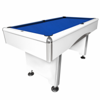 Dynamic III 7 ft brown pool table - Dynamic Triumph 7ft white pool table