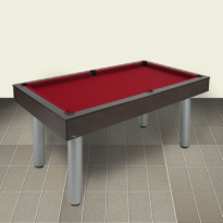 Dynamic Mozart 7 ft Pool Table - Red Devil Wengé Billiard Table