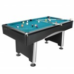 Dynamic III 9 ft brown pool table - Dynamic Triumph 7ft black table