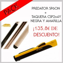 Pack Predator SP6ON + Cue Case CSP2x4Y Black and Yellow