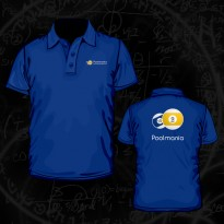 Poolmania Black Polo Shirt - Poolmania Blue Embroided Polo Shirt