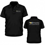 Poolmania Black Polo Shirt