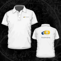 Clothing - Poolmania White Embroided Polo Shirt