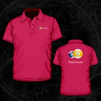 Poolmania Orange Polo Shirt - Poolmania Fuchsia Embroided Polo Shirt