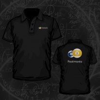 Clothing - Poolmania Black Embroided Polo Shirt