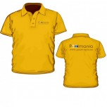Poolmania Orange Polo Shirt
