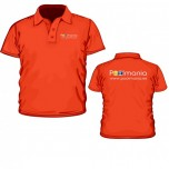 Clothing - Poolmania Red Polo Shirt