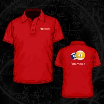 Clothing - Poolmania Red Embroided Polo Shirt