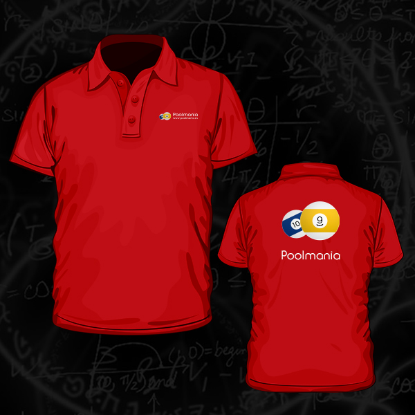 Poolmania Red Embroided Polo Shirt