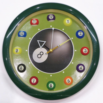 Mesa de Billar Pool Dynamic Hurricane 9 Pies Negra - 12 Ball Clock