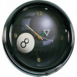Club Accessories - 8 ball Neon Clock