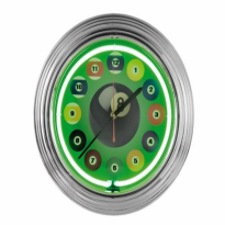 8 ball Neon Clock - Neon billiard clock NBU-2