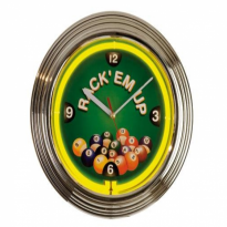 8 ball Neon Clock - Neon billiard clock NBU-5