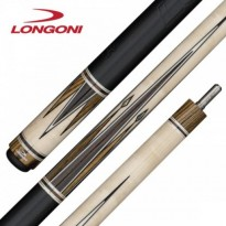 Longoni Black Mamba Shiny Star Pool Cue - Longoni Minerva Leather Pool Cue