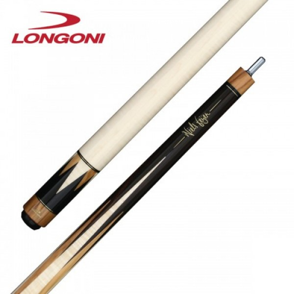 Longoni Niels Feijen T12-S2 pool cue with curly maple