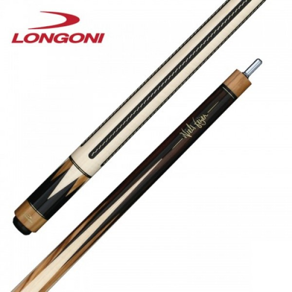 Longoni Niels Feijen T12-S2 pool cue with leather strips
