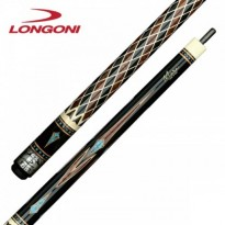 Longoni Collection Lux Pool Cue - Longoni Masai Silver Pool Cue